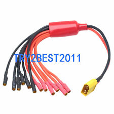 New XT60 to 3.5mm 6 wire bullet Multistar ESC Breakout Cable hexacopter