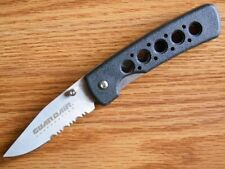 POCKET KNIFE BLACK HANDLE GUARDIAN AIR PART SERRATED