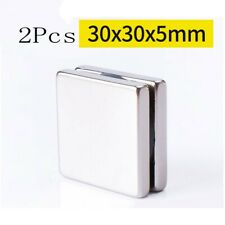 2pcs 30x30x5mm Strong Ndfeb Magnet Rare Earth Permanent Magnet Square Magnet N35