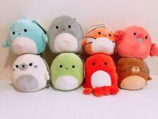"""Kellytoy Squishmallows Sea Life Assorted Sea Animal 5"""" Mini Plush Doll Toy"""