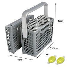 UNIVERSAL Dishwasher Cutlery Basket (14 x 23.5 x 25cm) + 2 x Freshener Capsules