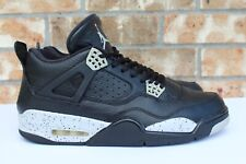 3bd057d80219 Men s Nike Air Jordan 4 IV Retro LS Oreo Black Gray 2015 Size 12 314254 003