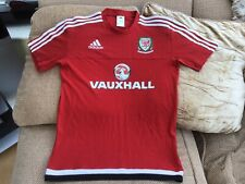 Adidas Red Wales Football Training T-Shirt 2016/17 Size Small In Great Cond