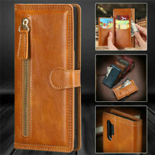 Fr Samsung Note 20 Ultra S20 S10+ Plus S21 Flip Leather Zipper Wallet Case Cover