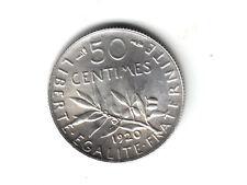 RARE EN L'ETAT : 50 Cts  ARGENT 1920  en SPL/FDC   ( QUALITE )