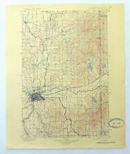 Spokane Washington Idaho Vintage USGS Topo Map 1901 Deer Park Topographic