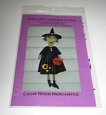 UGLY GREEN WANDA WITCH DOLL and HER BAG OF TRICKS sewing pattern HALLOWEEN