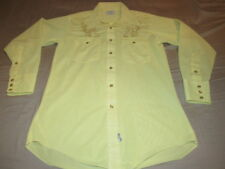 H BAR C Vintage Western Shirt Pearl Snap Red MENS SIZE 15 1/2 33 GREAT SHAPE