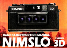 NIMSLO 3D 35mm CAMERA OWNERS INSTRUCTION MANUAL -NIMSLO 3D