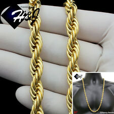 """30""""MEN's Stainless Steel 10mm Gold Smooth Rope Chain Necklace*GN149"""