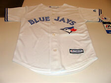 Toronto Blue Jays Kids Youth Small Age 8 Jersey Cool Base White Home Baseball