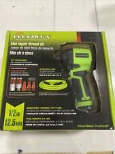 Flexzilla 1/2 In. Drive Mini Air Impact Wrench Kit 700 Ft./Lbs. 9500 Rpm New