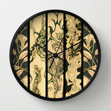 WALL CLOCK w/EXCLUSIVE COMPELLING SOLAR ETCHED DESIGN ~ Stunning & Unique