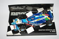 Minichamps F1 1/43 BENETTON FORD B197 - WURZ - 3rd BRITISH GP SILVERSTONE 1997