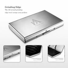 6 Card Slots Clip Aluminum Metal Credit Card Holder RFID Protector Wallet Case