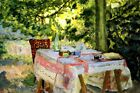 Table Set in a Garden French Painting By Pierre Bonnard Art Repro FREE S/H