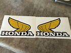 "Honda Wing Fuel Tank Decal Gas Tank 5"" Sticker CR125 CR250 CR480 CR500 Emblem"