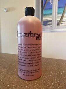 Sealed PHILOSOPHY 32 oz 946 ml GINGERBREAD MAN Shampoo Shower Gel Bubble Bath