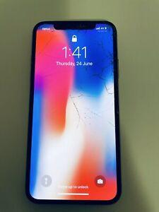 Apple iPhone X - 64GB - Silver (Unlocked) A1865 (CDMA + GSM) (AU Stock)