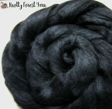 5 Feet Black Merino Cb Top Roving Dyed Wool Spinning Dolls Crafts Felting