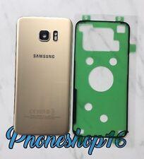 Original Samsung GALAXY S7 EDGE G935F Akkudeckel Deckel Backcover Gold + Kleber