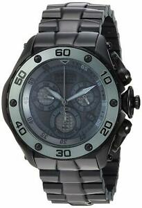 Invicta Mens Reserve Quartz Stainless-Steel Strap, Black, 25.8 Casual Watch