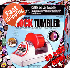 Rock Polisher Machine Tumbler Kit Smooth Stone Maker Gems Collector Kids Science