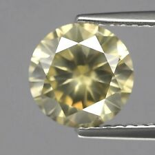 Sparkling 2.22ct Certified Very Large BROWNISH YELLOW DIAMOND 8.30 x 8.23mm