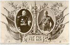 WW1 . GENERAL JOFFRE ET GENERAL FRENCH . Patriotique . patriotic .Pierre LAFOND