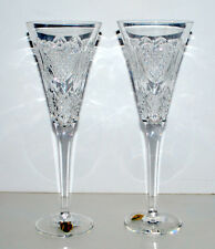Waterford Crystal Love Toasting Flutes Signed by Artist Unused in Original Box
