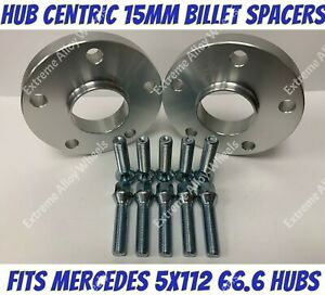 Alloy Wheel Spacers 15mm X 2 Mercedes C Class W204 W205 C204 C205 S204 Extreme