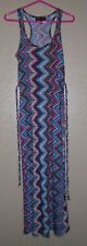 Derek Heart Racer Back Chevron Maxi Striped Dress Junior Women's Size M  EUC!
