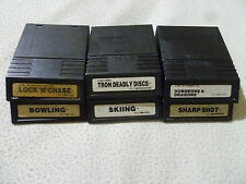 INTELLIVISION GAME CARTRIDGE LOT TRON DEADLY DISCS DUNGEONS & DRAGONS SHARP SHOT