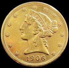 1906 Gold Us $5 Dollar Liberty Head Half Eagle Coin *Scruffy