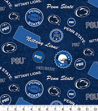PENN STATE NITTANY LIONS - HOME STATE 100% Cotton Fabric 1/4 yd 9