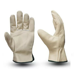 Leather Driver Gloves | Gardening Gloves | Work Lorry Drivers Riggers |  M - XL
