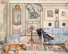 THE COZY CORNER HOME OFFICE REAL CANVAS CARL LARSSON GICLEE 8X10 WALL ART PRINT
