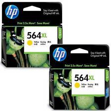 2 Pack HP564XL HP 564xl Color Yellow Genuine Ink For Photosmart C6380 D7560