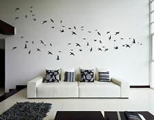 Flock of 60 Flying Birds Living Room Hallway Bedroom Kitchen Wall Sticker Decals