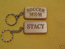 Soccer Mom Laser Engraved Personalized Keychain Sport