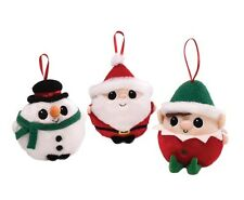 GUND Christmas Set of 3 Jeepers Peepers Hanging Tree Ornaments   17501