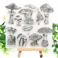 Mushroom Transparent Clear Silicone Stamp DIY Scrapbooking Card Making Kid Craft