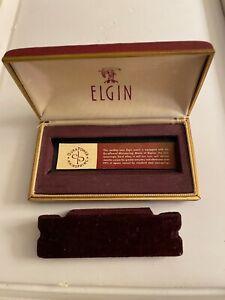 Vintage Elgin Watch Box Case Red Gold