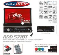 Nouvel Autoradio Bluetooth Caliber RDD571BT DVD / USB / SD Ecran Rétractable