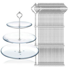 20 Sets 3 Tier Cake Plate Stand Handle Fittings Silver for Royal Crown Rod