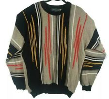 Tundra Hip Hop Multicolor Texture Knit Crewneck 3D Sweater Size L