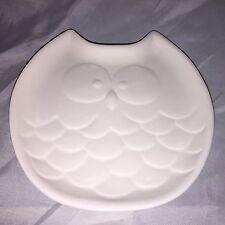 Cool smaller OWL FACE design fusing / draping kiln mold Sager slump plate mold