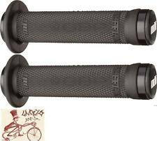 ODI RUFFIAN FLANGED LOCK-ON BLACK BMX-MTB BICYCLE GRIPS