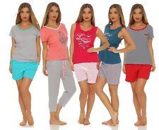 Kurzer Damen Pyjama Schlafanzug luftige leichte Baumwolle Grösse 36 38 44 48/50