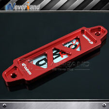Pitch Hole 140mm CNC Billet Aluminum Password Battery Tie Down Bar Auto Car Red